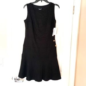 NWT EnFocus Black Mini Dress Scuba Sleeveless 10